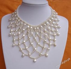 Pearl Bib Style Necklace