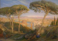 The Golden City: Rome from the Janiculum, by Samuel Palmer, 1873,  National Gallery of Victoria