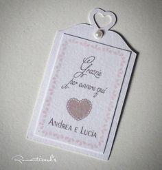 Etichetta per bomboniera by Romanticards, by Romanticards e Little Rose Handmade, 0,25 € su misshobby.com