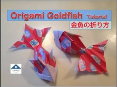 Origami Goldfish Tutorial 金魚の折り方