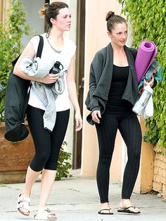 How to Get Over Your Divorce, as Told by Mandy Moore & Minka Kelly | FEED YOUR BODY & SOUL | A heavy-duty yoga session is good for you, as Mandy Moore and her friend Minka Kelly showed following a recent sweat sesh in L.A. The two have been tight for a while, so when news of Moore's divorce from husband of six years Ryan Adams broke in January, Kelly was right by her side – and has been ever since, keeping her pal's mind off her man with a bunch of fun activities, like …