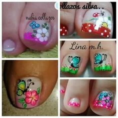 Cute Pedicure Designs, Fancy Nails Designs, Toe Nail Designs, Cute Toe Nails, Cute Toes, Toe Nail Art, Cute Pedicures, New Nail Art Design, Spring Nails