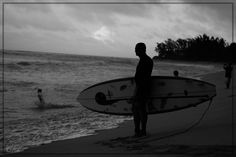 Ready or not? - A surfer at the north shore, Oahu, Hawaii