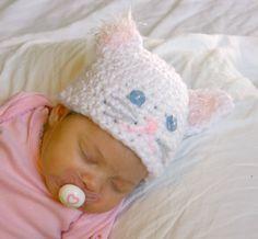 Baby cat hat PDF crochet pattern 06 month by lovinghandscrochet, $3.50