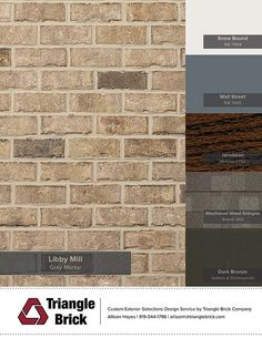Introducing the Libby Mill New in Spring Brown Brick Exterior, Yellow Brick Houses, Brick House Colors, House Exterior Color Schemes, Exterior Paint Colors For House, Paint Colors For Home, Exterior Colors, Shutter Colors, Light Brick