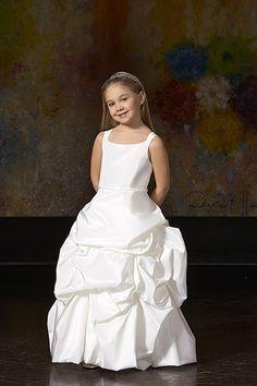 Perfect ruching gown taffeta sleeveless flower girl dress  Read More:     http://www.weddingscasual.com/index.php?r=perfect-ruching-gown-satin-sleeveless-flower-girl-dress.html