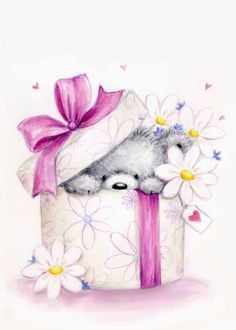 Cute Teddy Bear Pics, Teddy Bear Pictures, Cute Bears, Happy Birthday Greetings, Birthday Greeting Cards, Birthday Wishes, Beautiful Flowers Pictures, Cute Pictures, Cartoon Drawings