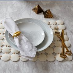 Brass Muse Napkin Rings, Set of 4
