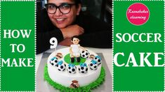 How to make Soccer cake: Soccer theme birthday cake decorating tutorial Cake Decorating For Beginners, Cake Decorating Set, Cake Decorating Classes, Birthday Cake Decorating, Cake Decorating Tutorials, Decorating Ideas, Cake Designs For Kids, Simple Cake Designs, Soccer Cake