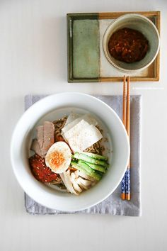 The Best Korean Summer Noodles - Bibim Naengmyeon (Korean Spicy Cold Noodles) | MyKoreanKitchen.com