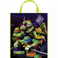 """Large Plastic Teenage Mutant Ninja Turtles Favor Bag, 13"""" x 11"""""""