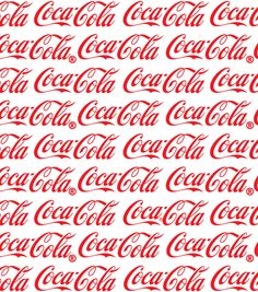 Coca Cola Logo White Cotton Fabric