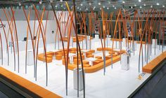 Expo and tradeshow inspiration for and at Exhibition Booth Design, Exhibition Space, Exhibition Ideas, Exhibit Design, Expo Stand, Art Stand, Stand Design, 3d Design, Trade Show