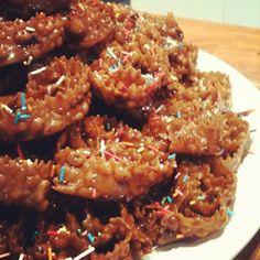 Italian Pinwheel Christmas cookies.: Le Cartellate