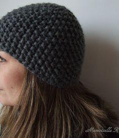 97428819e4cf bonnet en point de riz (tuto) Tuto Bonnet Tricot, Bonnet Echarpe, Modèle