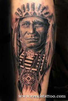 indian man tatoo.
