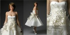 Irina Shabayeva Laser cut appliqué bridal ball by IrinaShabayeva, $2795.00