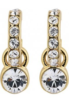Dyrberg Kern  LAURINO SG CRYSTAL Hoop earring made with SWAROVSKI ELEMENTS. The crystal pendant can be removed if desired.