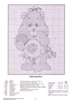 Presenting Care Bears In Counted Cross Stitch