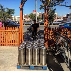Keg delivery from our head brewer, Eric! #coneyisland #beer