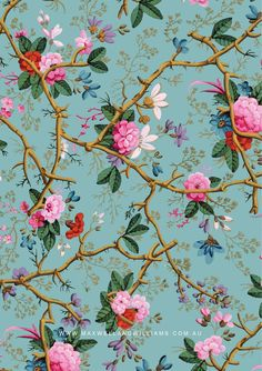 ISSUU - Maxwell & Williams joie feb14 by H.A.G Imports Vintage Flowers Wallpaper, Victorian Wallpaper, Love Wallpaper, Pattern Wallpaper, Art Floral, Floral Prints, Flower Backgrounds, Wallpaper Backgrounds, Textile Pattern Design