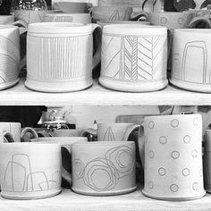 Mug decorating #boulderpottersguild