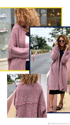 Crochet Wool, Thick Sweaters, Crochet Fashion, Long Cardigan, Lana, Knitting, Coat, Womens Fashion, Dresses