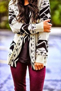 Black Aztec Tribal Cardigan