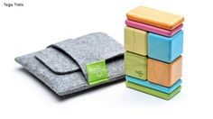 Toy Travel Tote by Tegu - magnetic blocks. A portion of the proceeds will fund Tegu's tree planning projects in Honduras and the education of the children whose families work at the Tegucigalpa city trash dump.