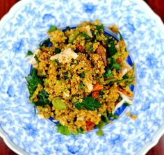 hodgepodge quinoa salad with curry dressing
