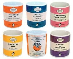 penguin mugs.  especially the great gatsby one.  it would match my life PERFECTLY.