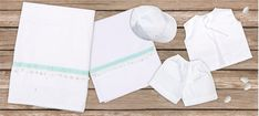 oil cloth set 6 pieces, ladopano,ladopana, λαδόπανα, set underwear baptism vaptism vaptisi Baptism Favors, Baptism Gifts, Christening Gifts, Baby Shower Gifts, Baby Gifts, Handmade Shop, Handmade Items, Unique Christmas Gifts