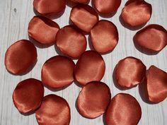 Table Scatter Petals Wedding Rose Petals Terracotta Satin Petals Rust Orange Petals Flower Girl Petals Party Supply Petals Artificial Petals
