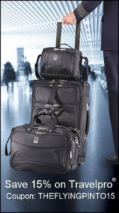 Check out my travel discounts! Save 15-20% on great products like TravelPro Luggage, Smart Planet, Hoseanna Hosiery and more!