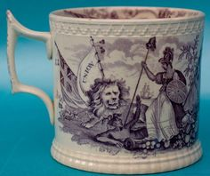 Antique Pearlware Irish Political History Pottery Commemorative Mug 19C Famine in Pottery, Porcelain & Glass, Date-Lined Ceramics, Pre-c.1840 | eBay