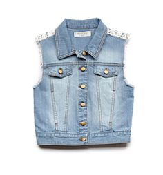 Forever 21 denim and lace vest - she likes it, I do not.  Just a different style opinion.