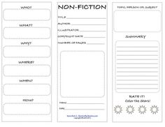All about fiction,non-fiction books & biographical books or reading. For English 101 essay paper.?
