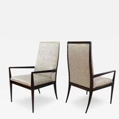 Pair of Highback Armchairs After T.H. Robsjohn-Gibbings by T.H.  Robsjohn-Gibbings