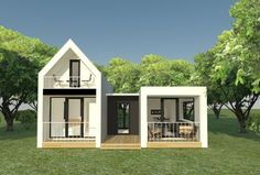Container Home Designs, Tiny Container House, Small House Design, Dream Home Design, Modern House Design, Villa Design, Big Modern Houses, Tiny House Trailer, Dome House