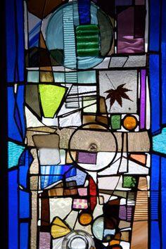 Portland artist works recycled materials into Modernist art-glass windows | Don Leedy