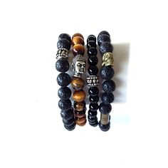 Men's Bracelet Lava Stone Bracelet, Accessories for Men, Jewelry Men, Yoga