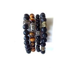 Men's Bracelet Lava Stone Bracelet, Accessories for Men, Jewelry Men, Yoga