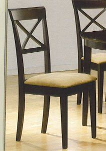 $58.82               Coaster Dining Chairs, Cross-Back Design, Dark Cappuccino, Set of 2   #chairs #home #house #diningchairs  http://www.InTheWind.org