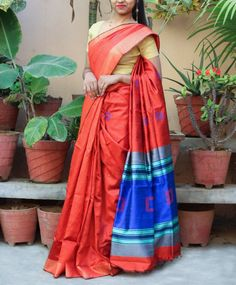 Buy Exclusive Red Blue Handloom Dupion Raw Silk Saree Online Shopping from Paarijaatham Dupion Silk Saree, Raw Silk Saree, Soft Silk Sarees, Georgette Sarees, Silk Sarees Online Shopping, Stay Cool, Mulberry Silk, Saree Collection, Loom