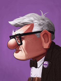 """""""Carl from Up"""" (by Mike Mitchell) 