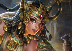 It's been awhile since i update my Artstation here. some of the illustration work for ©Square Enix ( Mobius Final Fantasy ). Bastet Goddess, Goddess Art, Egyptian Goddess, Anime Egyptian, Egyptian Beauty, Egypt Concept Art, Egypt Art, Beautiful Fantasy Art, Fantasy Kunst