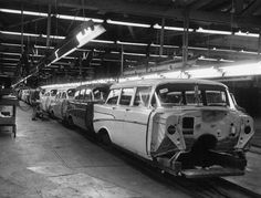 '57 Chevy wagons headed down the assembly line
