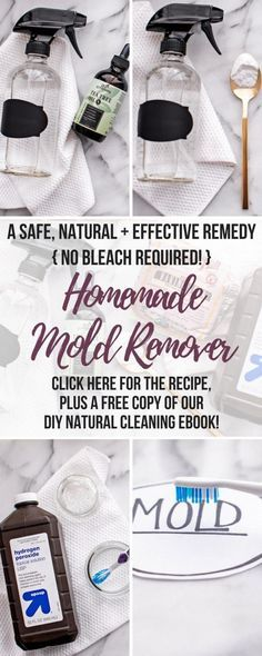 Wondering how to get rid of mold naturally? Whether you have black mold in your shower or basement, on your walls, windows, ceiling or baseboards, this DIY Mold Remover is a safe and natural black mold removal cleaner that will eliminate mold health risks Cleaning Mold, House Cleaning Tips, Deep Cleaning, Cleaning Hacks, Cleaning Recipes, Cleaning Checklist, Clean Black Mold, Remove Black Mold, Diy Home