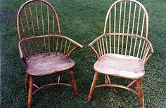 Pair of Windsor chairs, in yew and ash #cnc #chairs