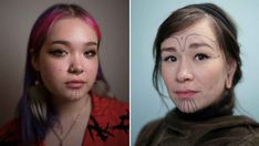 Wild face tattoos are spreading among Greenlanders: 'It's a super cool way to show who I am' . 200 years after the Danish colonization, several Greenlanders choose to take back their original culture by means of Inuit tattoos. Face Tattoos, Face Art, Folk, People, Danish, Piercings, Deco, City, Jewelry